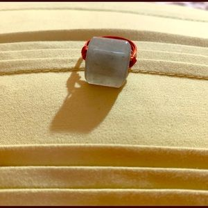 Jade and copper ring.